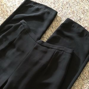 Zipper Back Black Pants